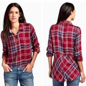 Lucky Brand Bungalow Red Plaid Top S Modal